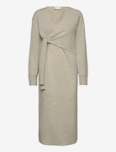 Silvia Dress - strikkjoler - oatmeal