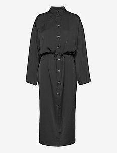 Emmy Straight Dress - skjortekjoler - black