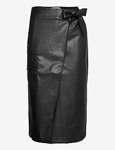 Marie Wrap Skirt - midi skjørt - black