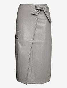 Marie Wrap Skirt - midi skjørt - grey
