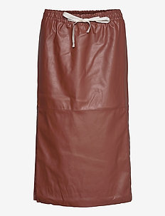 Marie Midi Skirt - midi kjolar - brown