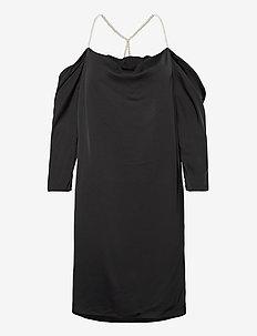 Emmy Pearl Dress - midiklänningar - black