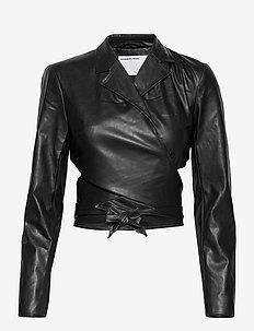 Marie Wrap Jacket - skinnjackor - black