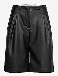 Marie Waist Shorts - skinn shorts - black