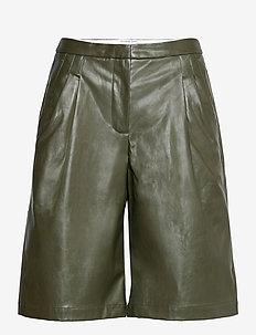 Marie Waist Shorts - skinn shorts - olive