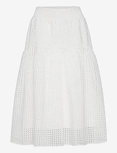 Molise Skirt - midi nederdele - cream