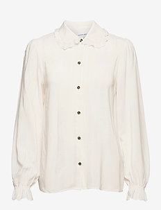 Eliza Sleeve Shirt - langærmede bluser - cream