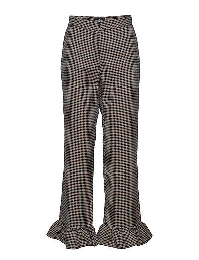 Lezan Ruffle Pants - CHECK