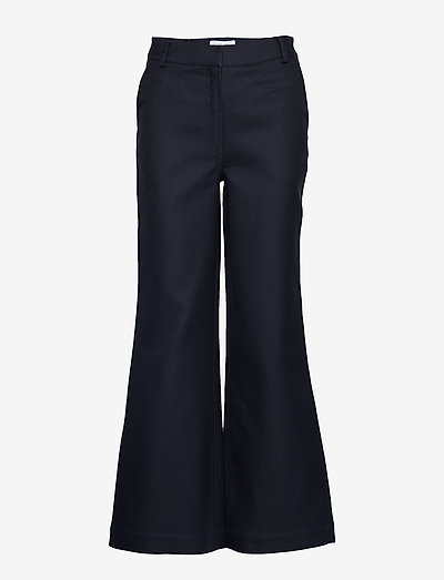 Letta Pants - bukser med brede ben - navy