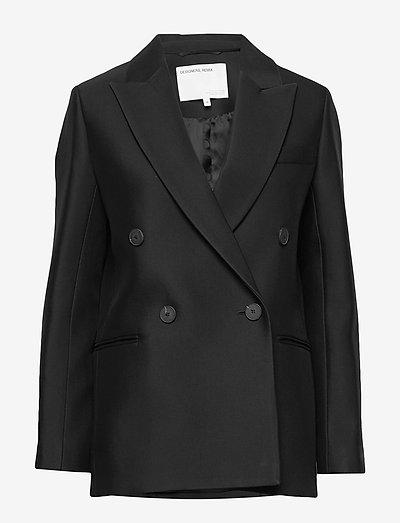 Double breasted blazer - oversized blazere - black