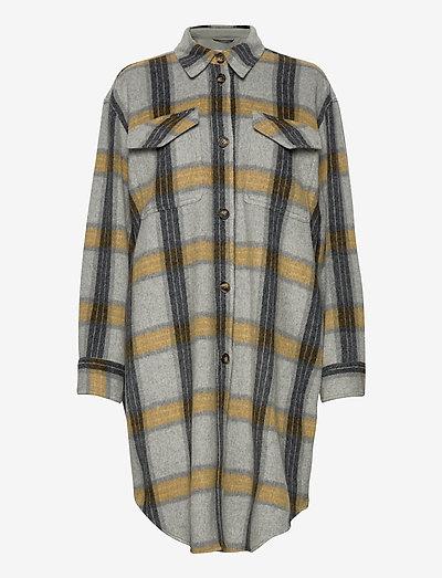 Amara Shirt Coat - tøj - check