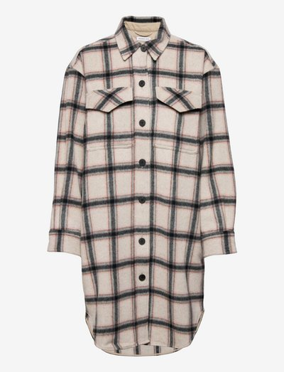 Angelo Shirt Coat - uldfrakker - check