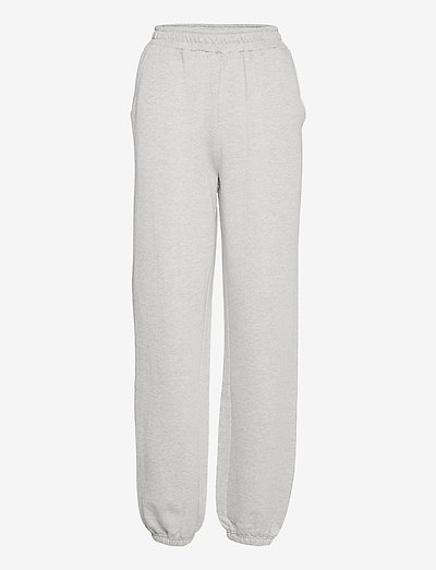 Willie Emb Sweat Pants - tøj - grey melange