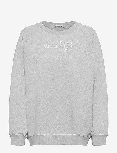 Willie Emb Sweatshirt - sweatshirts & hættetrøjer - grey melange