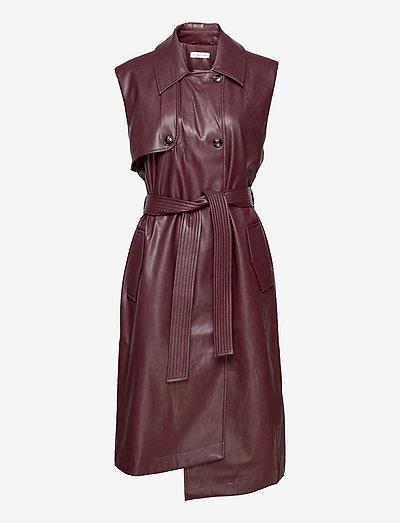 Marie Vest Coat - skjortekjoler - burgundy