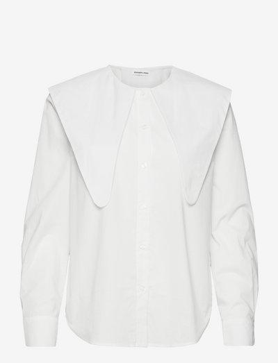 Sandra Big Collar Shirt - langærmede bluser - cream