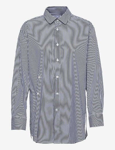 Smilla Draped Shirt - denimskjorter - stripes