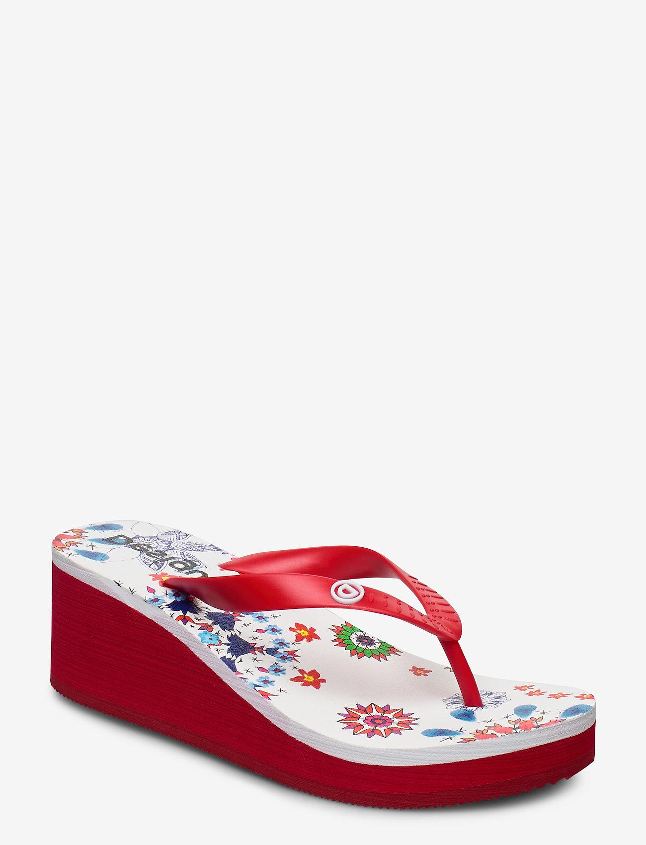 Desigual Shoes - SHOES LOLA GALACTIC - tongs - blanco