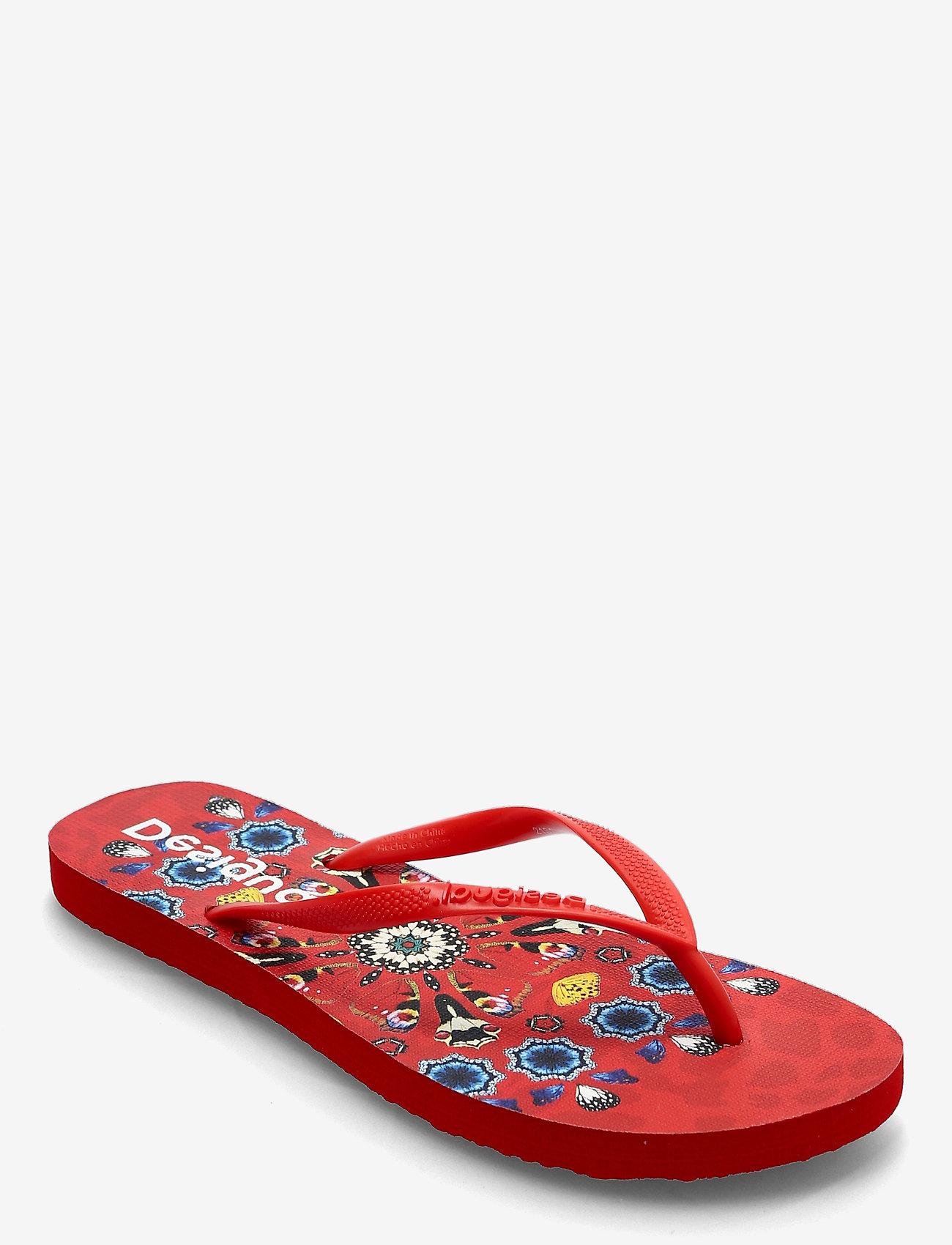 Desigual Shoes - SHOES FLIP FLOP BUTTERFL - teenslippers - carmin - 0