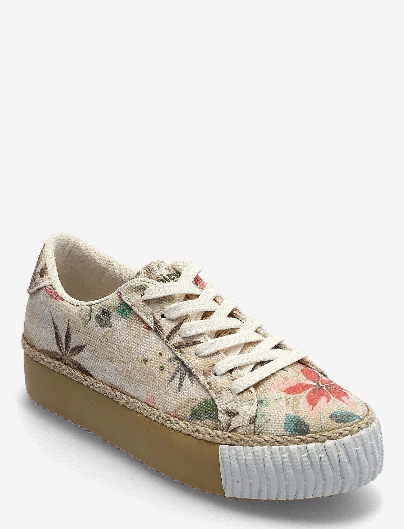 Desigual Shoes - SHOES STREET CAMOFLOWERS - låga sneakers - fog - 0