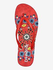 Desigual Shoes - SHOES FLIP FLOP BUTTERFL - teenslippers - carmin - 3
