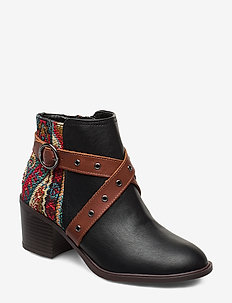 SHOES ALASKA TAPESTRY - talon haut - negro