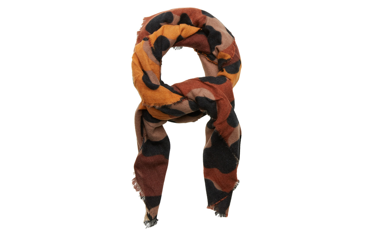 Desigual Accessories SCARF ANIMAL - CHOCOLATE BROWN