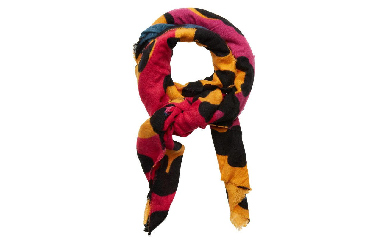 Desigual Accessories SCARF ANIMAL - NEON PINK