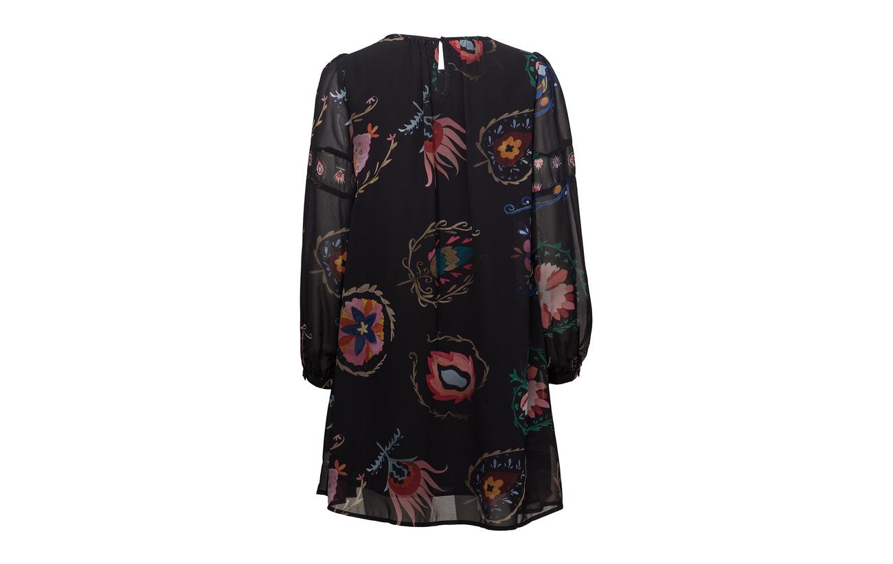 Polyester 100 Desigual Negro Jane Vest XxqSw4Iz
