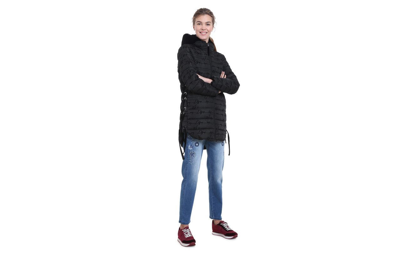 Padded Lucille Negro Polyester 100 Desigual dq1Sw5d