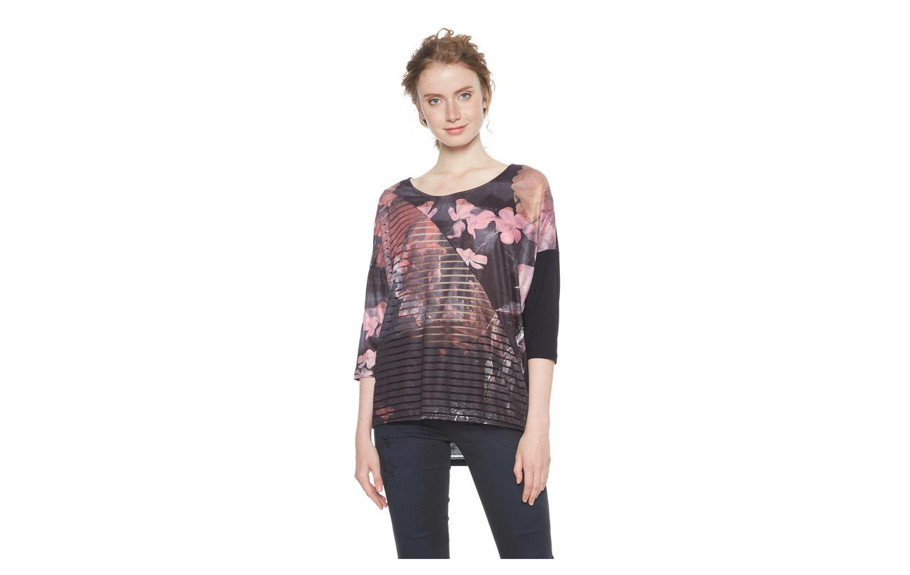Elasta Belgica 87 Viscose 2 Desigual Glamour Ts Rosa Polyester 11 zwxnq5RI0