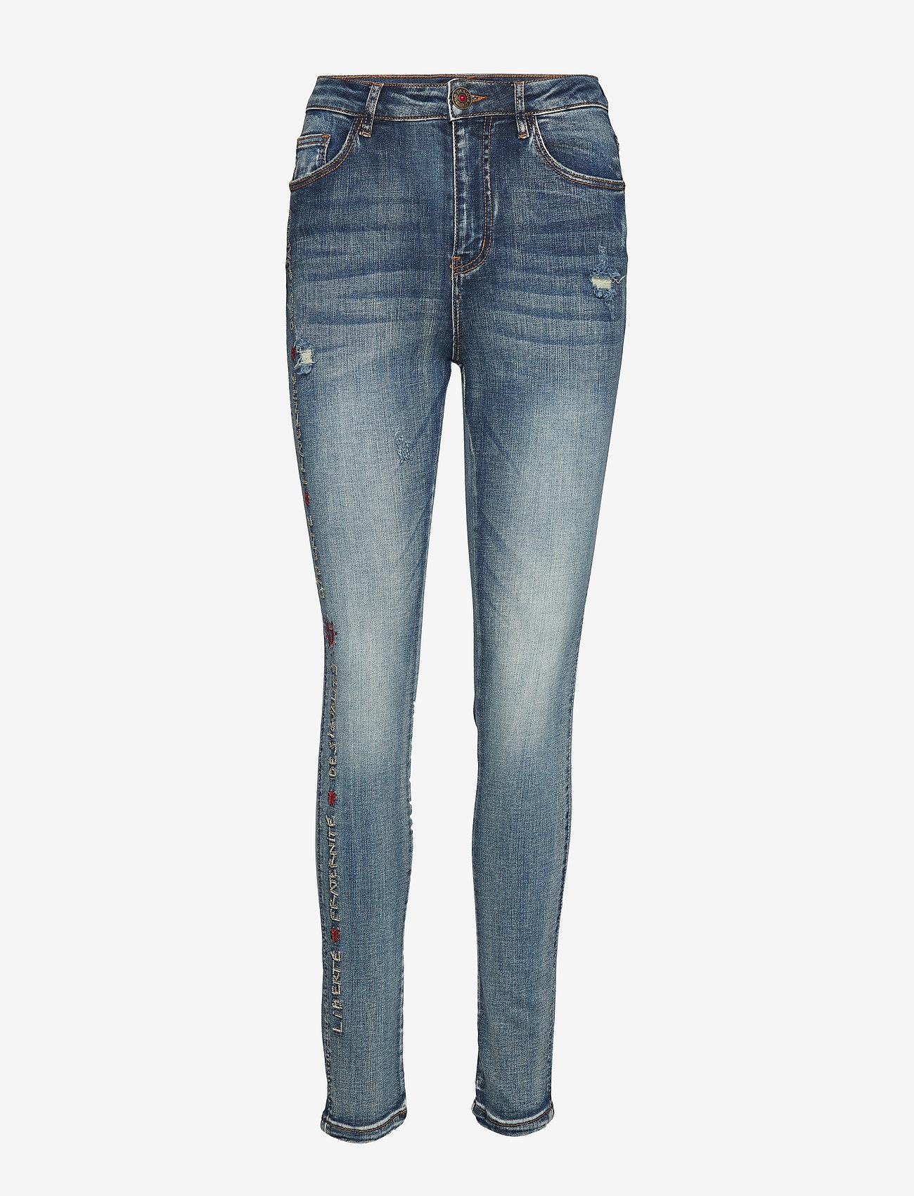 Desigual - DENIM FRATERNI - jeans skinny - denim baby blue - 0