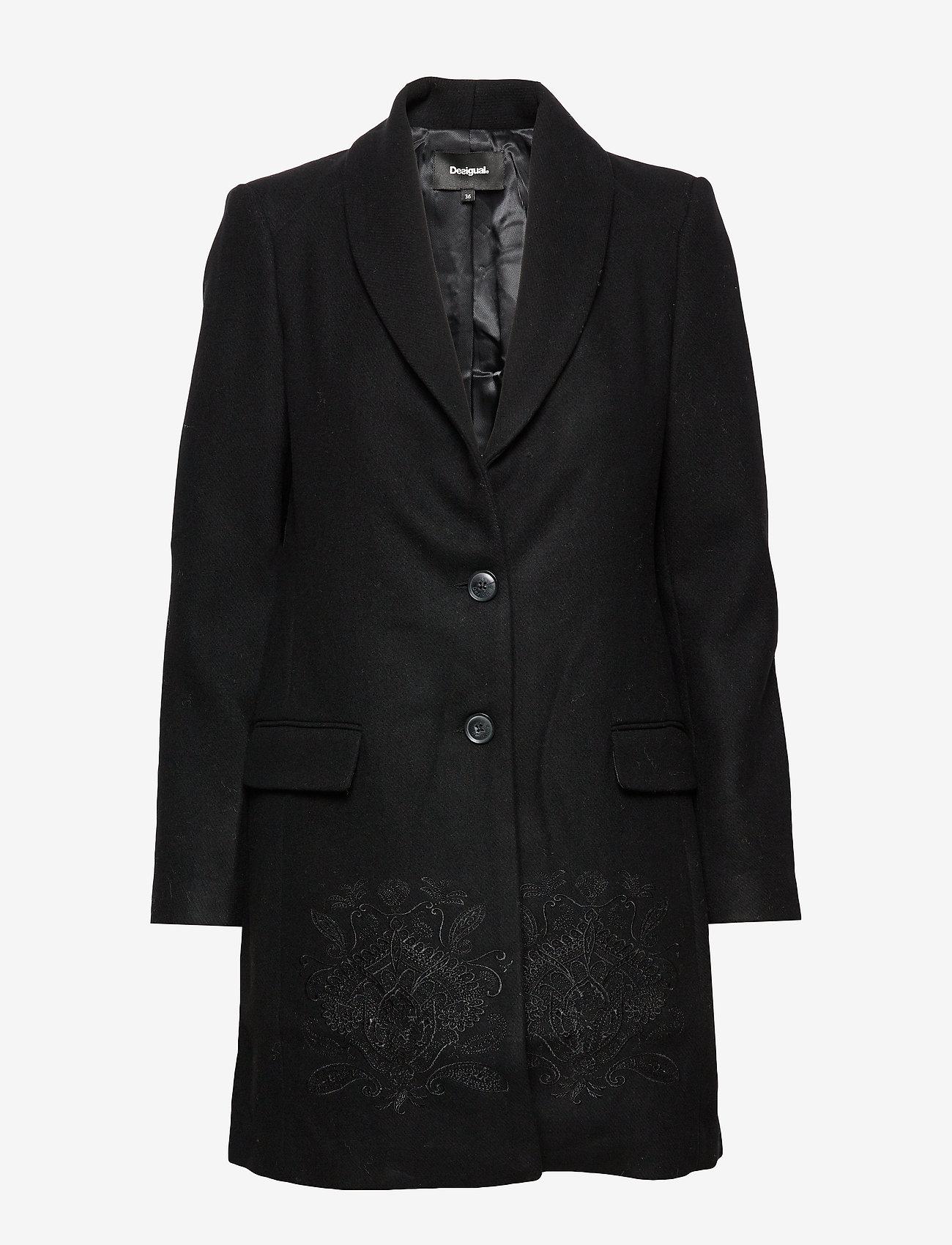 Desigual - ABRIG RAMAL - wełniane płaszcze - negro - 0