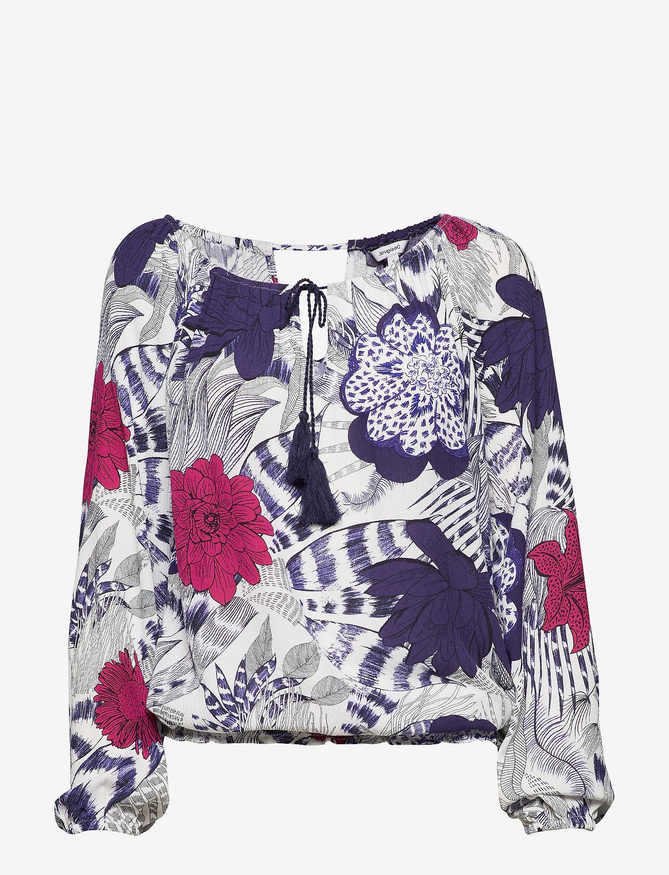 Desigual - BLUS VERONA - blouses à manches longues - navy