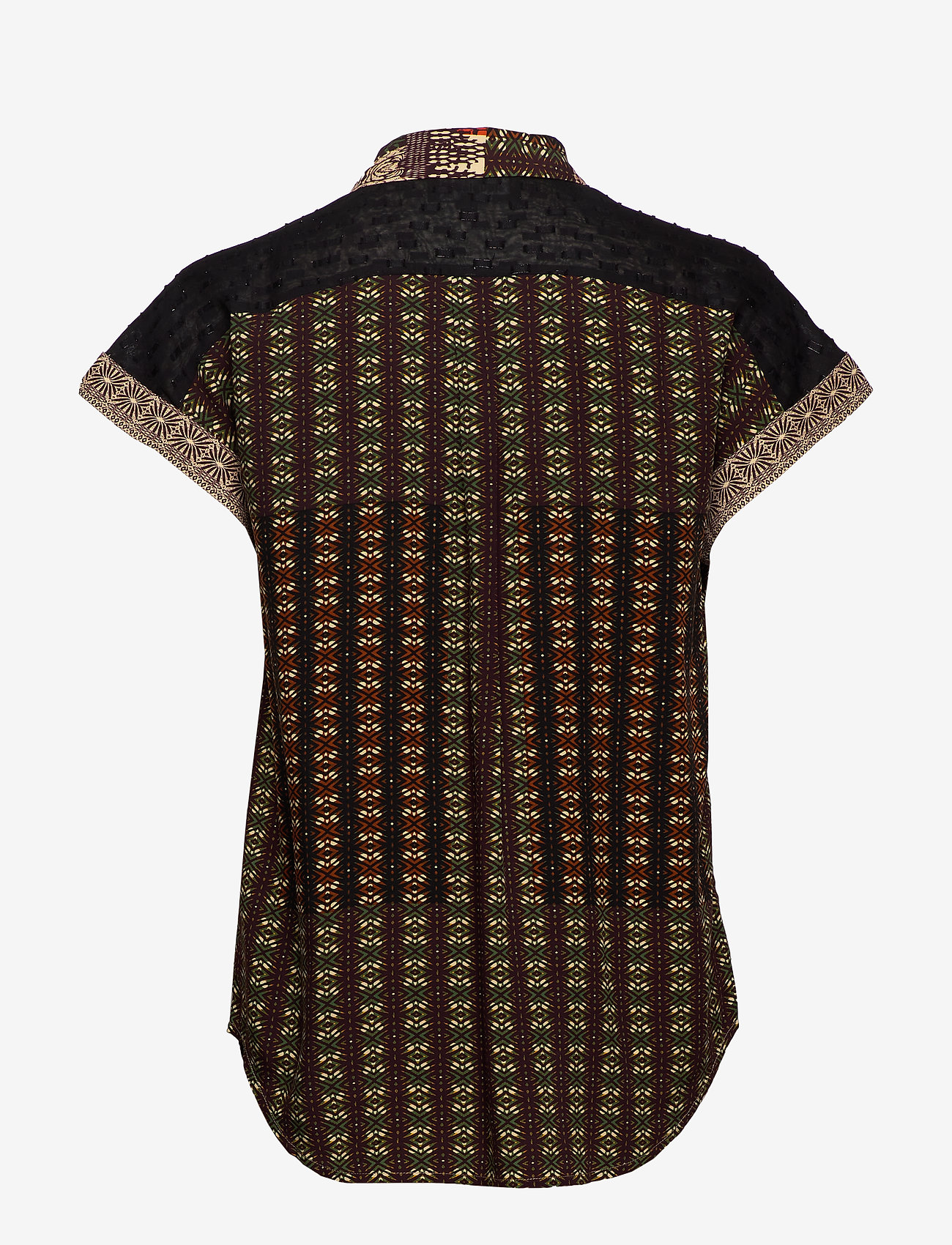 Desigual - CAM PAVIA - kortärmade skjortor - caqui - 1