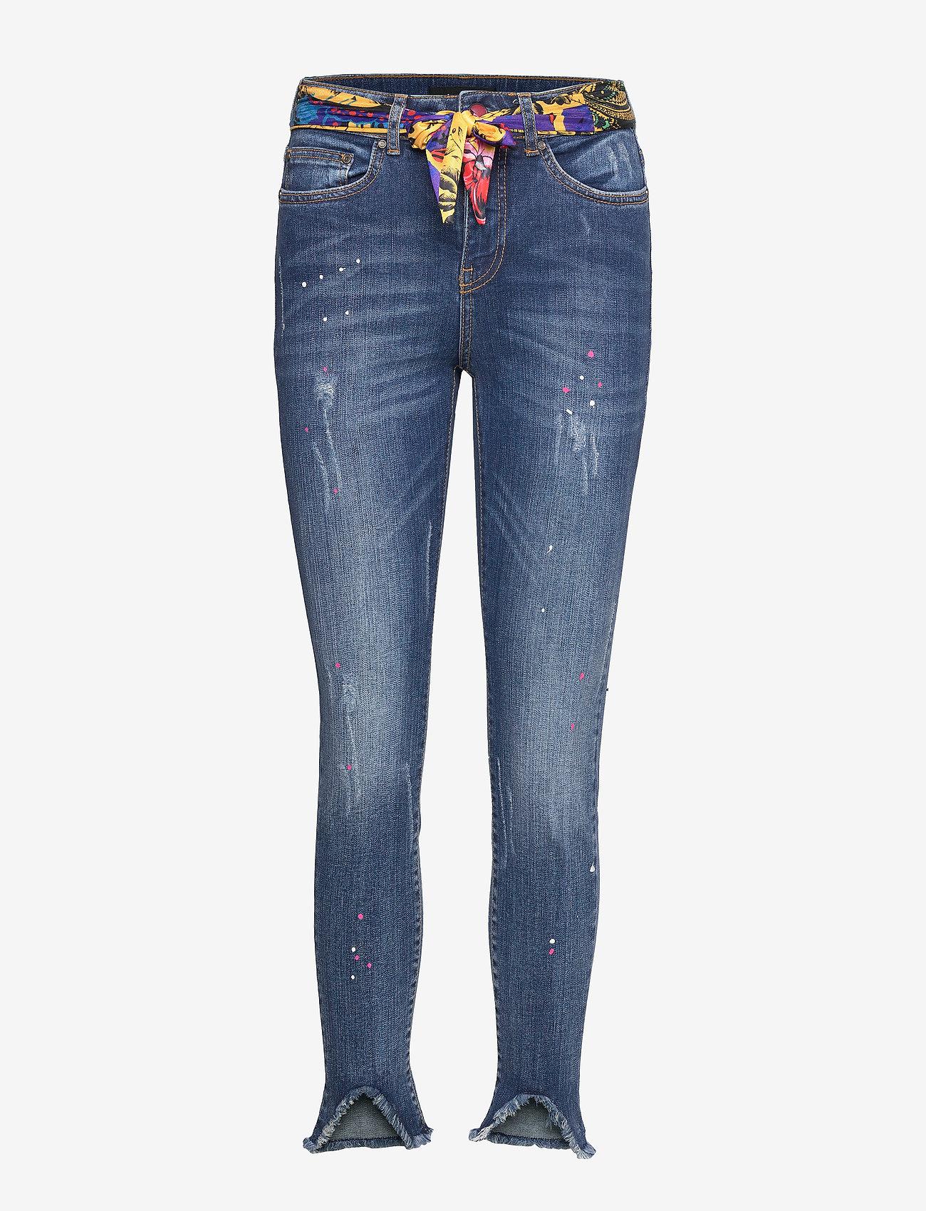 Desigual - DENIM RAINBOW - jeans skinny - denim dark blue - 0