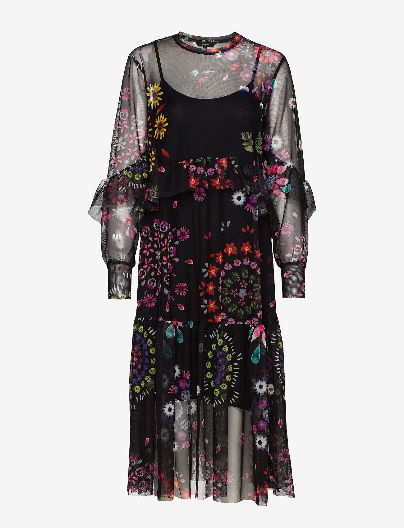 Desigual - VEST PORTLAND - midi jurken - negro - 0