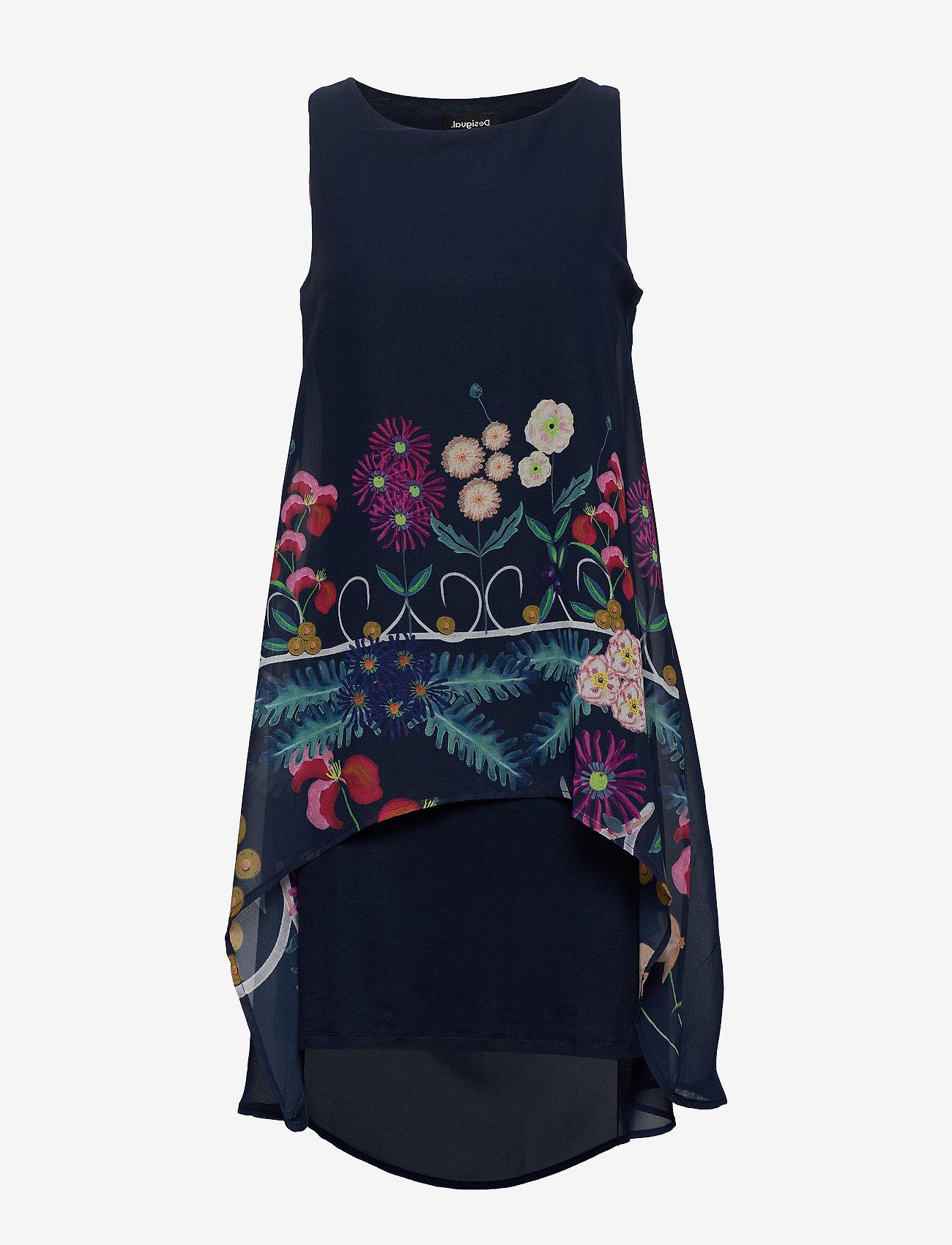 Desigual - VEST CARNEGIE - korte jurken - azul tinta - 0