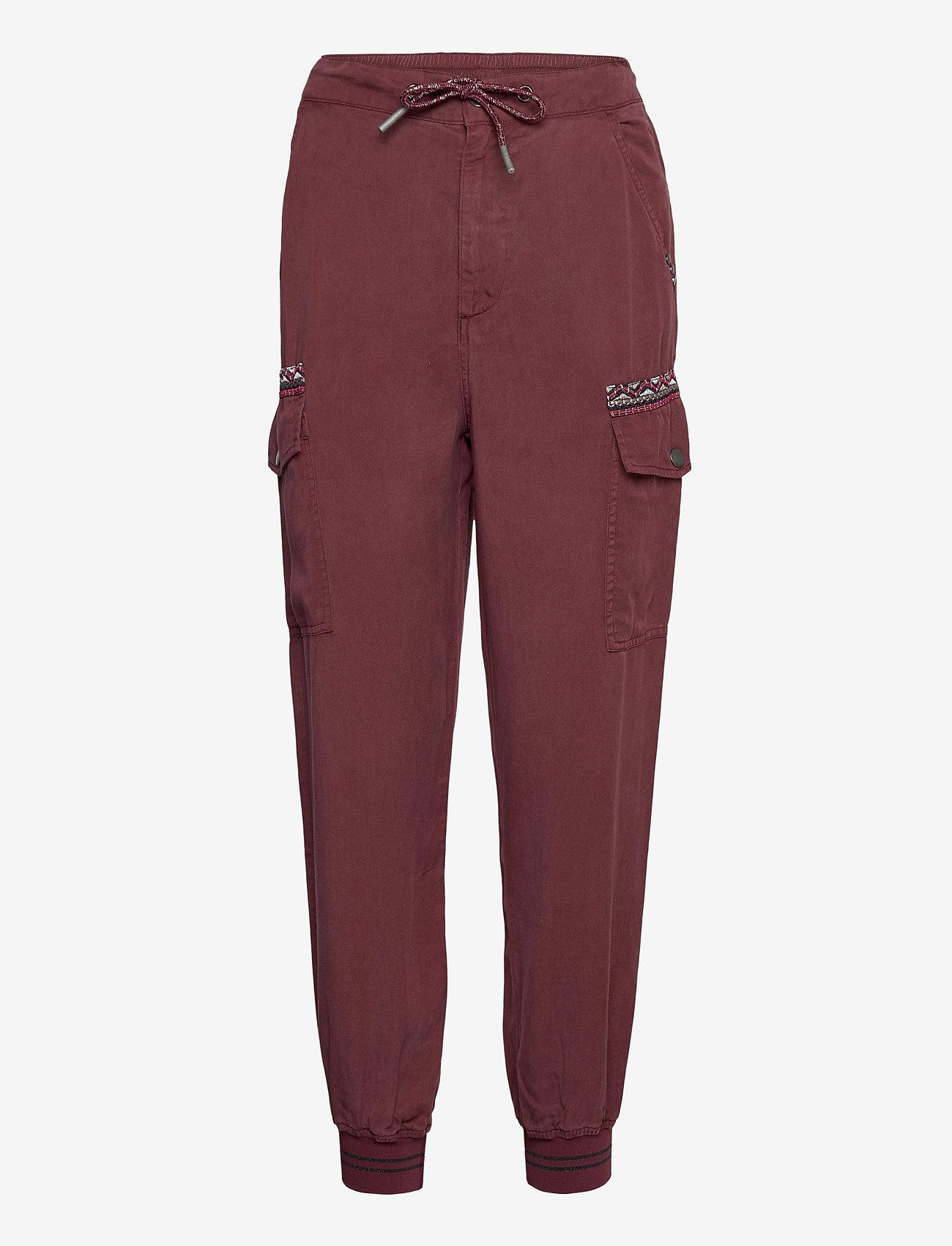 Desigual - PANT GRETA - kläder - borgoÑa - 0