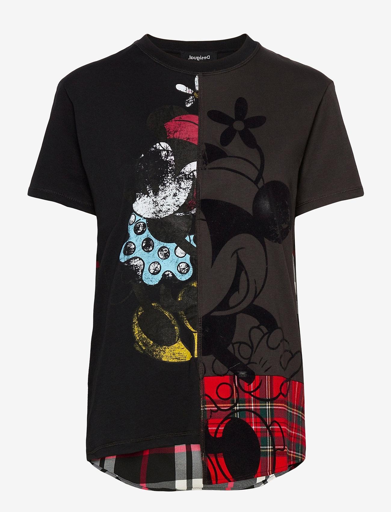 Desigual - TS MINNIEMIX - t-shirts - negro - 0