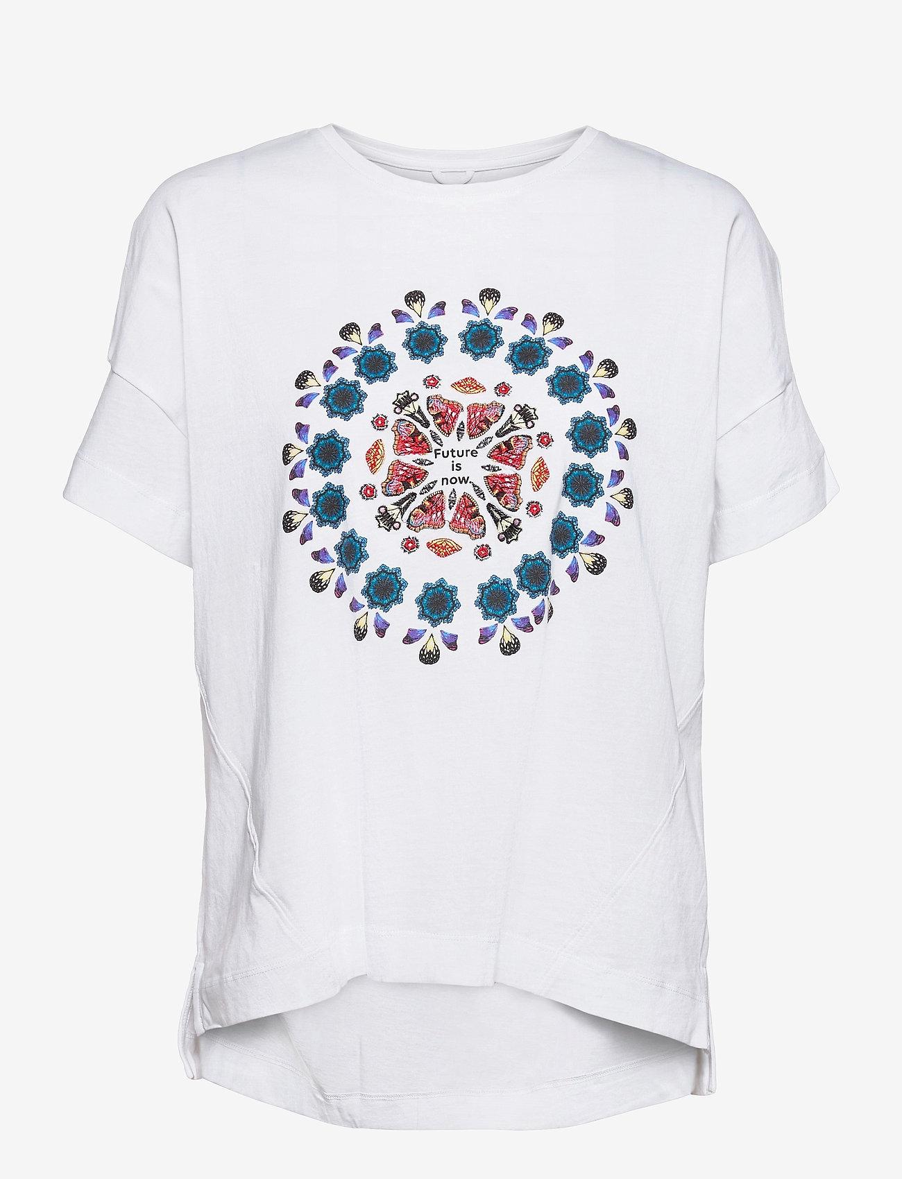Desigual - T SHIRT OVERSIZE GALACTI - t-shirts - blanco - 0