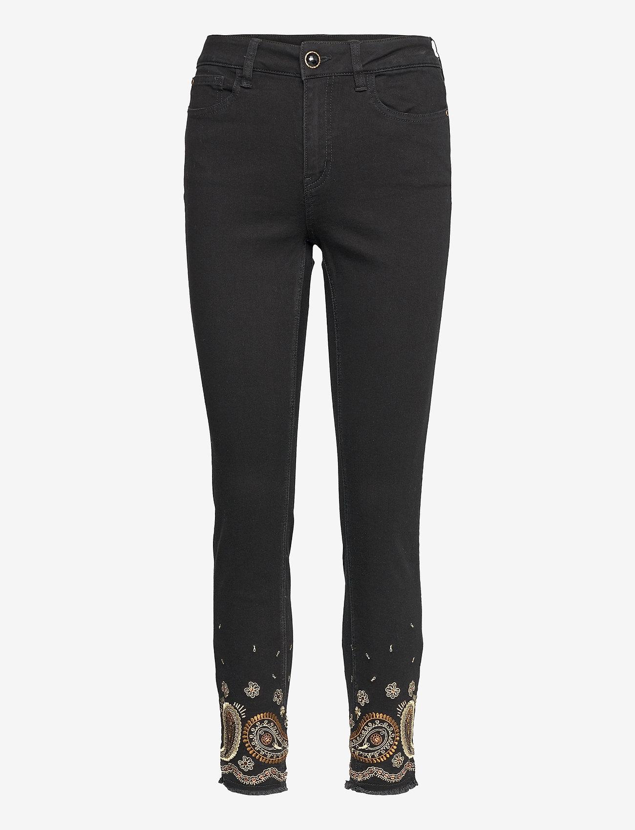 Desigual - DENIM BELGICA - skinny jeans - negro - 0