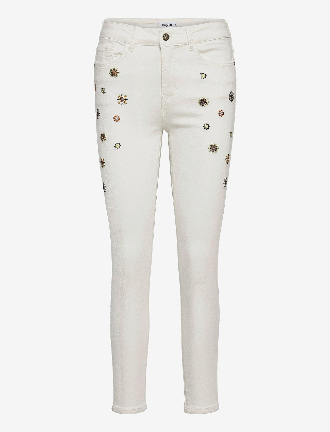 Desigual - DENIM AUSTRIA - slim jeans - blanco nieve - 0