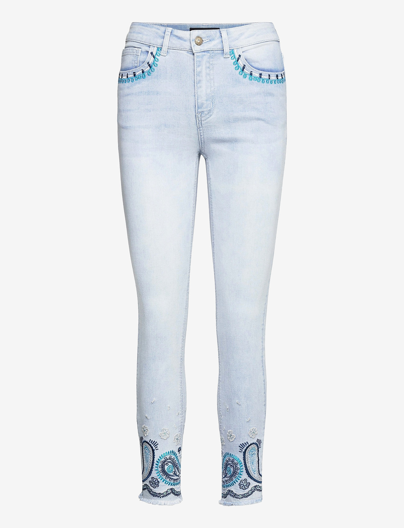 Desigual - DENIM ANKLE PAISL - skinny jeans - denim bleach - 0
