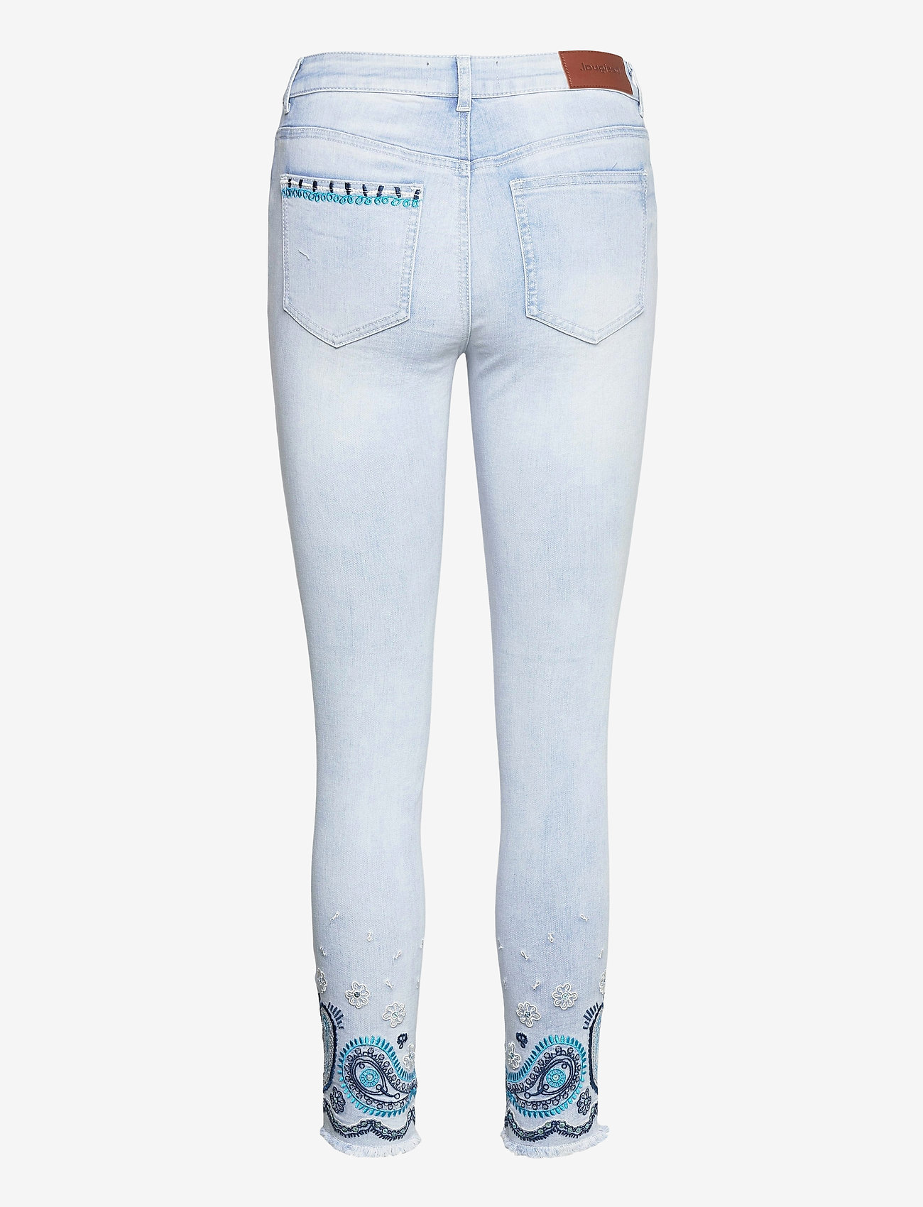 Desigual - DENIM ANKLE PAISL - skinny jeans - denim bleach - 1