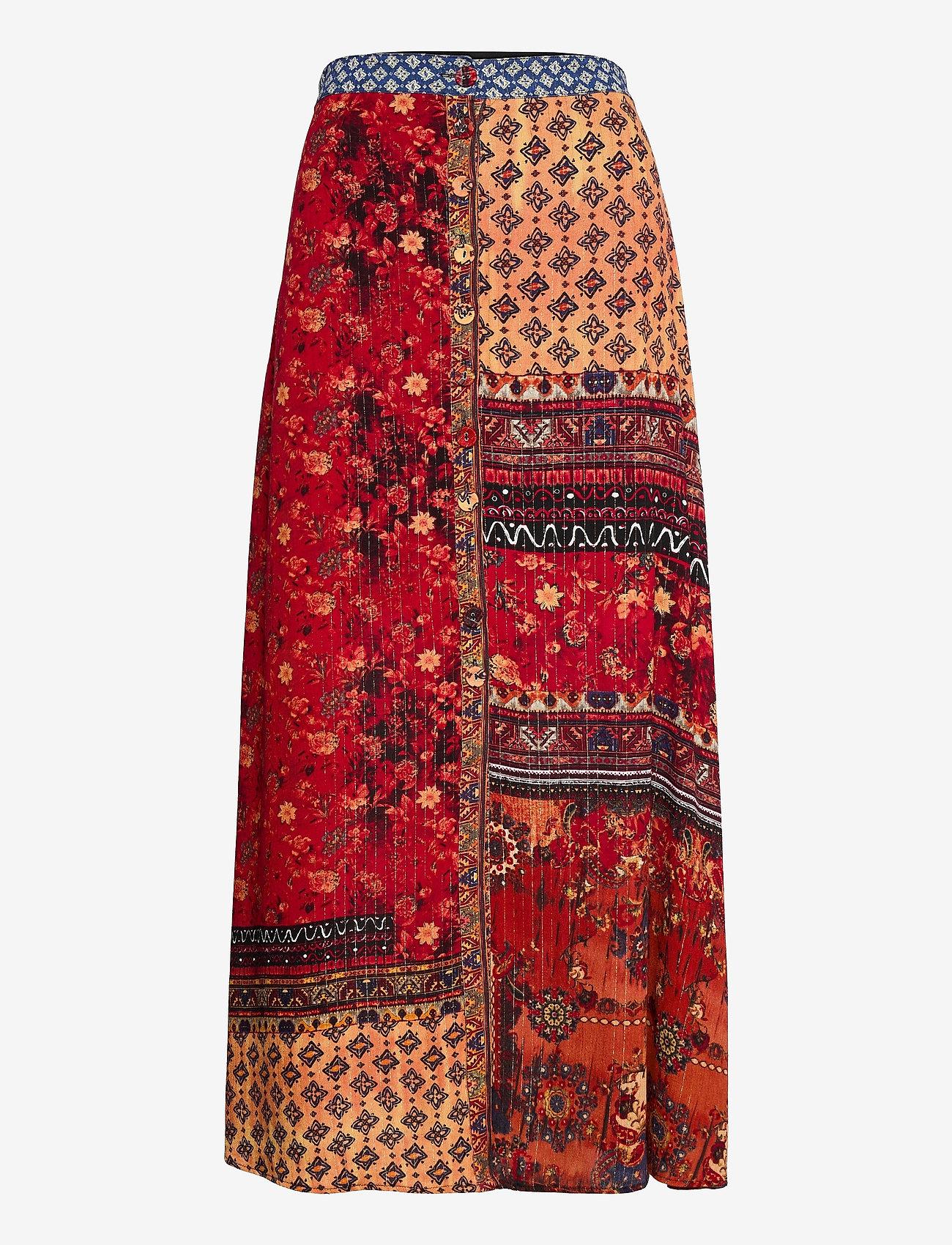 Desigual - FAL BAIKAL - midi kjolar - naranja tierra - 0