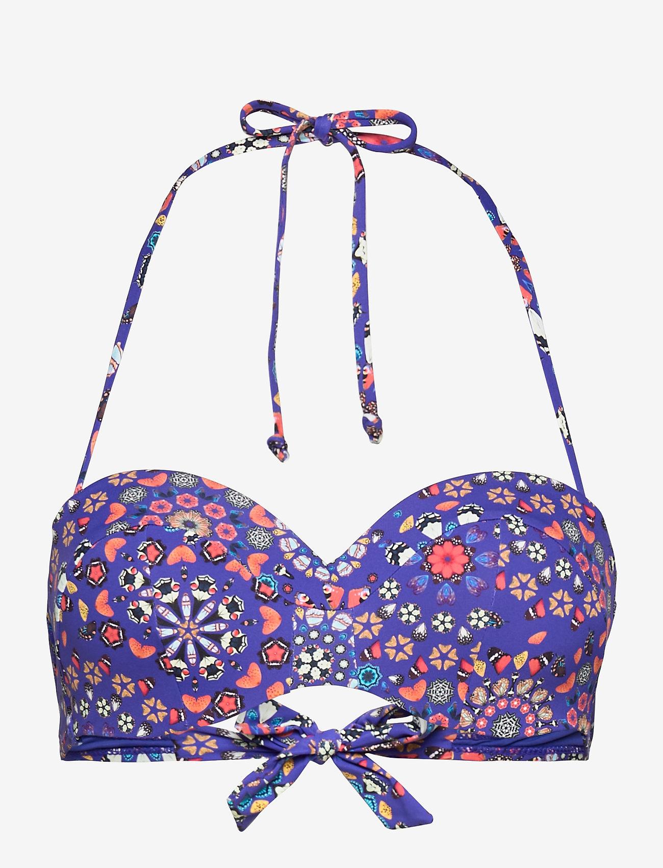 Desigual - BIKI BAHAMAS - bikinitoppar - azul klein - 0