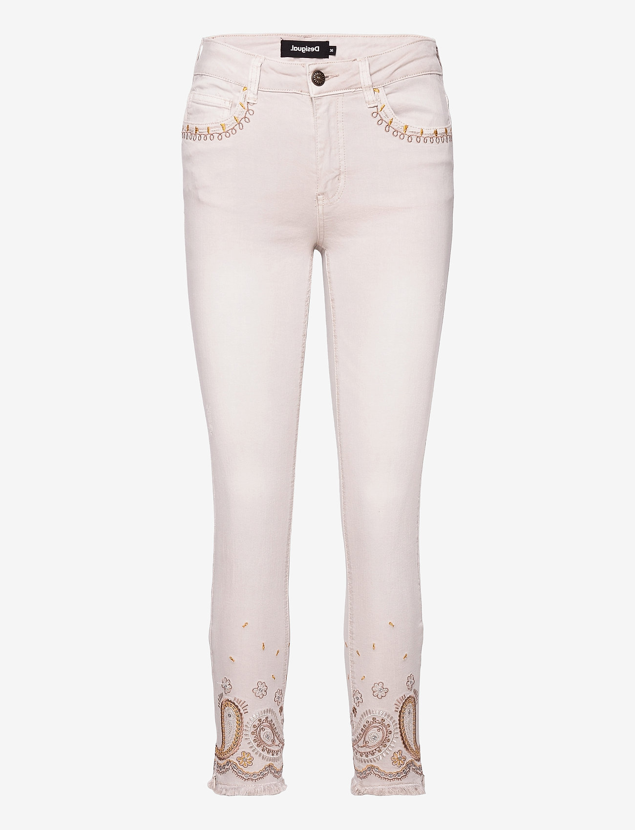 Desigual - PANT ANKLE PAISLE - skinny jeans - blanco nieve - 0