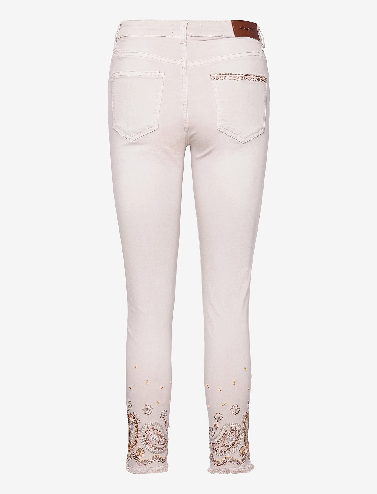 Desigual - PANT ANKLE PAISLE - skinny jeans - blanco nieve - 1