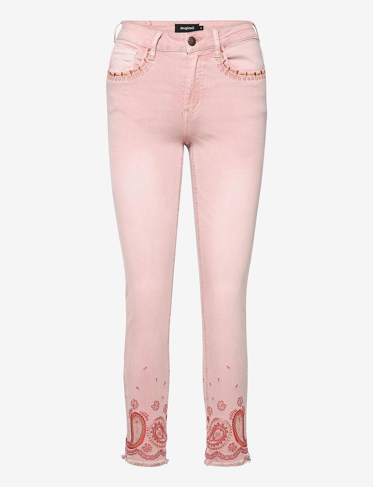 Desigual - PANT ANKLE PAISLE - rosa palo - 0